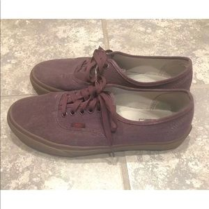 Vans Authentic Purple Maroon Gum Bottom Size 10